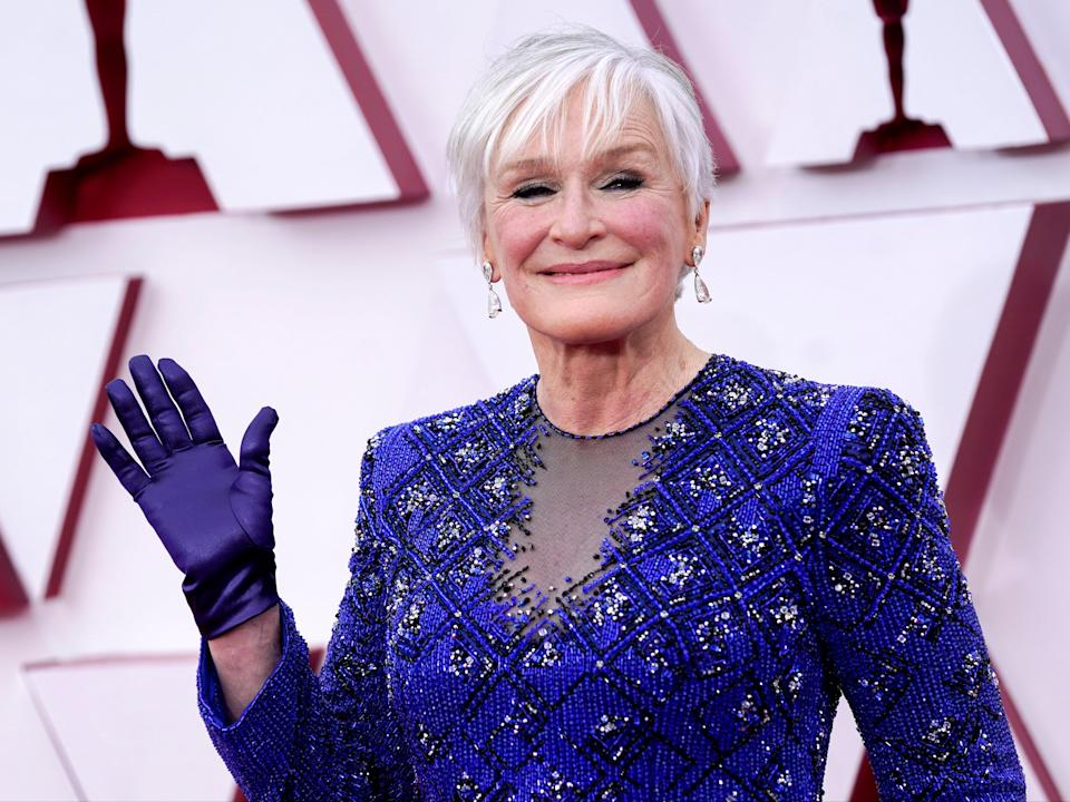 Glenn Close at the 93rd Academy Awards on 25 April 2021 at Union Station in Los Angeles (Chris Pizzello-Pool/Getty Images)