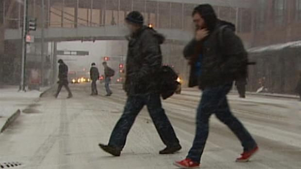 A heavy spring snowfall hit the Edmonton region during the morning commute Thursday.