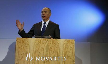 CEO Jimenez of Swiss drugmaker Novartis arrives to address the company's annual news conference in Basel