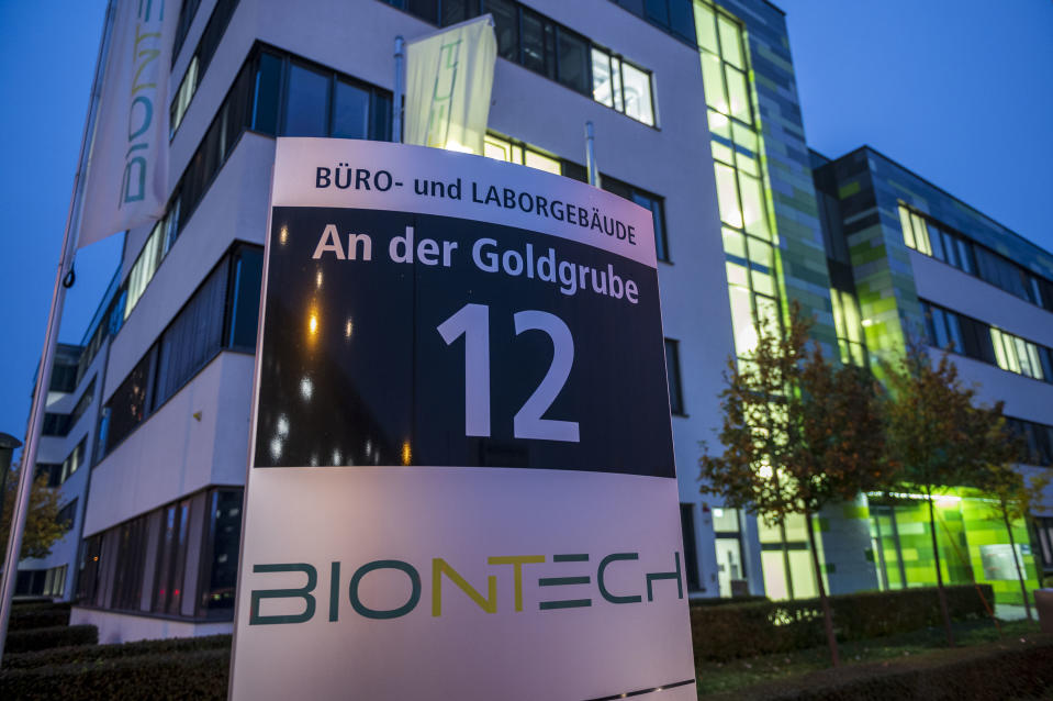 MAINZ, GERMANY - NOVEMBER 10: The headquarters of German immunotherapy company BioNTech is seen on November 10, 2020 in Mainz, Germany. BioNTech and its U.S. partner company, Pfizer, have signed a contract with the European Commission to deliver 200 million doses of its new Covid-19 vaccine. The two companies recently successfully completed phase III of their trials for the vaccine and will apply for approval by the U.S. Food and Drug Administration (FDA) next week. BioNTech claims the vaccine provides 90% protection against Covid-19. (Photo by Thomas Lohnes/Getty Images)