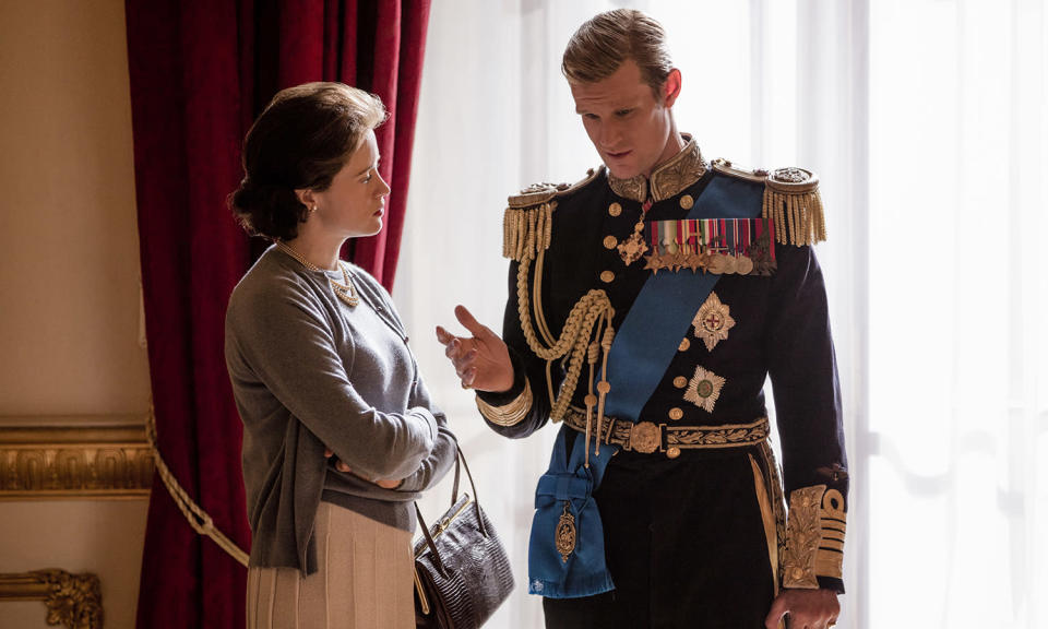 <p>Claire Foy and Matt Smith bid farewell to the royal soap opera at the end of the second season and will be replaced by Olivia Colman and Tobias Menzies as the Queen and Prince Philip, tackling thorny issues like Princess Margaret's affair and Charles meeting Diana.<br>Photo: Netflix </p>