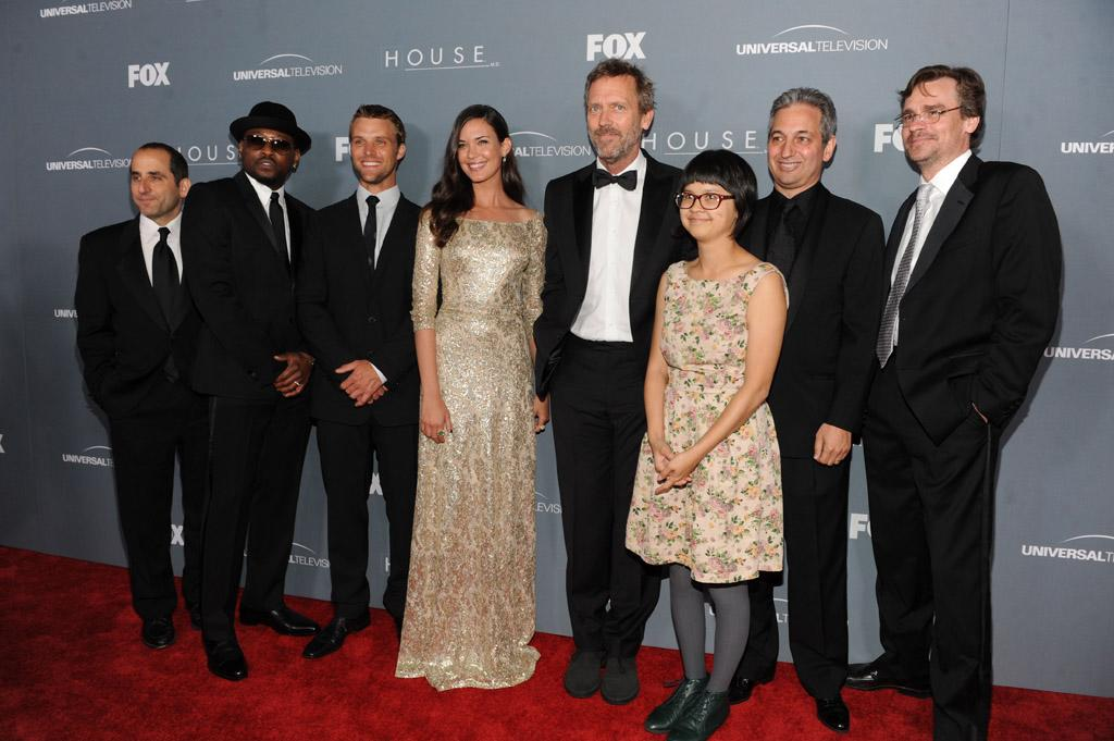 "Peter Jacobson, Omar Epps, Jesse Spencer, Odette Annable, Hugh Laurie, Charlyne Yi, David Shore, and Robert Sean Leonard arrive at the ""<a target=""_blank"" href=""http://tv.yahoo.com/house/show/36106"">House</a>"" Series Finale Wrap Party on Friday, April 20, 2012 at Cicada in downtown Los Angeles, California."