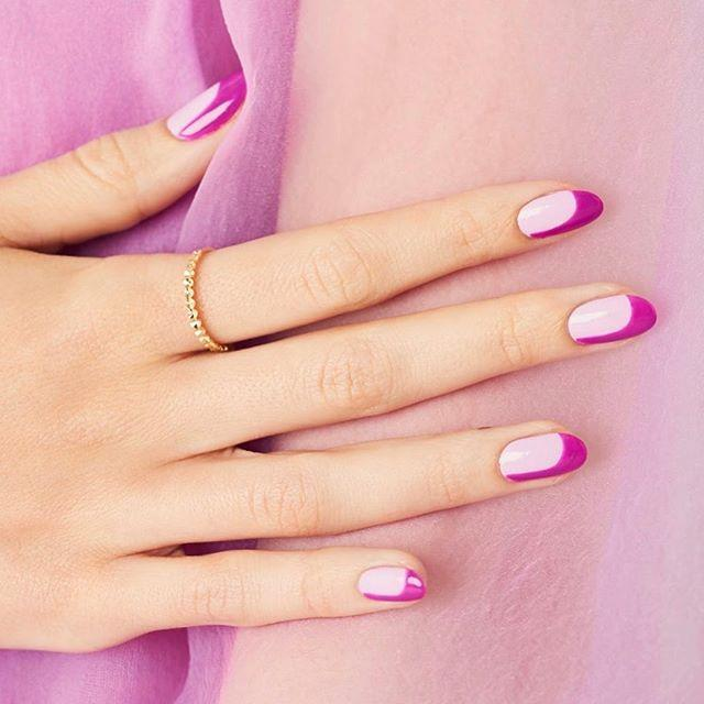 """<p>Make your nails (and fingers!) look ultra long by extending your French tip down one side of your nail. Shades of magenta make this mani even cuter.</p><p><a class=""""link rapid-noclick-resp"""" href=""""https://www.amazon.com/Sally-Hansen-Therapy-Polish-Magenta/dp/B01JOKXQMA?tag=syn-yahoo-20&ascsubtag=%5Bartid%7C10055.g.1267%5Bsrc%7Cyahoo-us"""" rel=""""nofollow noopener"""" target=""""_blank"""" data-ylk=""""slk:SHOP MAGENTA POLISH"""">SHOP MAGENTA POLISH</a></p><p><a href=""""https://www.instagram.com/p/CCBoGq5J0yu/&hidecaption=true"""" rel=""""nofollow noopener"""" target=""""_blank"""" data-ylk=""""slk:See the original post on Instagram"""" class=""""link rapid-noclick-resp"""">See the original post on Instagram</a></p>"""