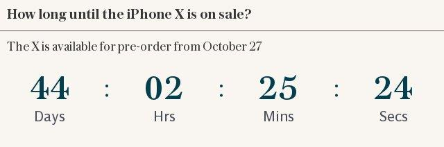 How long until the iPhone X is out?