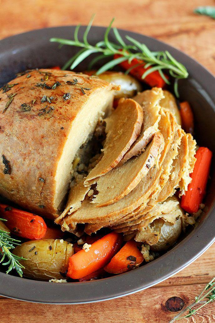 """<p>Roasted tofurkey is a festive choice for the holiday.</p><p><strong>Get the recipe at <a href=""""http://www.ilovevegan.com/how-to-cook-a-tofurky-roast/"""" rel=""""nofollow noopener"""" target=""""_blank"""" data-ylk=""""slk:I Love Vegan"""" class=""""link rapid-noclick-resp"""">I Love Vegan</a>.</strong> </p>"""