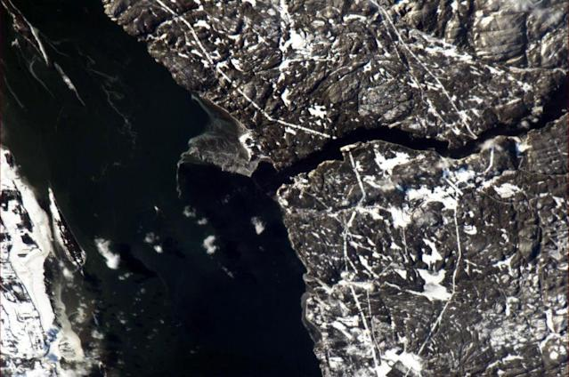 Tadoussac, Quebec - a great place for whale watching. Photo taken at Noon on 31 Dec 12.