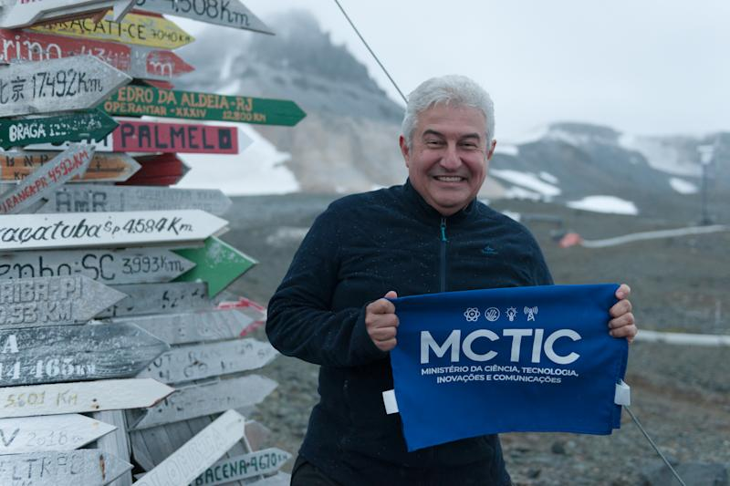 KING GEORGE ISLAND, ANTARCTICA - JANUARY 15: Minister of science and technology Marcos Pontes poses. as Vice-President Hamilton Mourao celebrates the inauguration of the new Comandante Ferraz Research Station, which replaces a facility lost in to fire in 2012; on January 15, 2020 in King George Island, Antarctica. (Photo by Alessandro Dahan / Getty Images)