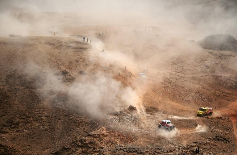 Stage 5 of the Dakar Rally between Riyadh and Al-Qaisumah in Saudi Arabia