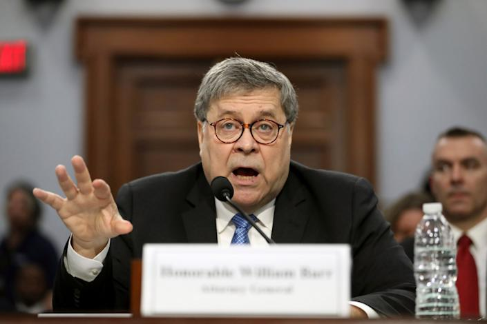 Attorney General William Barr appears before a House Appropriations subcommittee to make his Justice Department budget request, Tuesday, April 9, 2019, in Washington. (Photo: Andrew Harnik/AP)