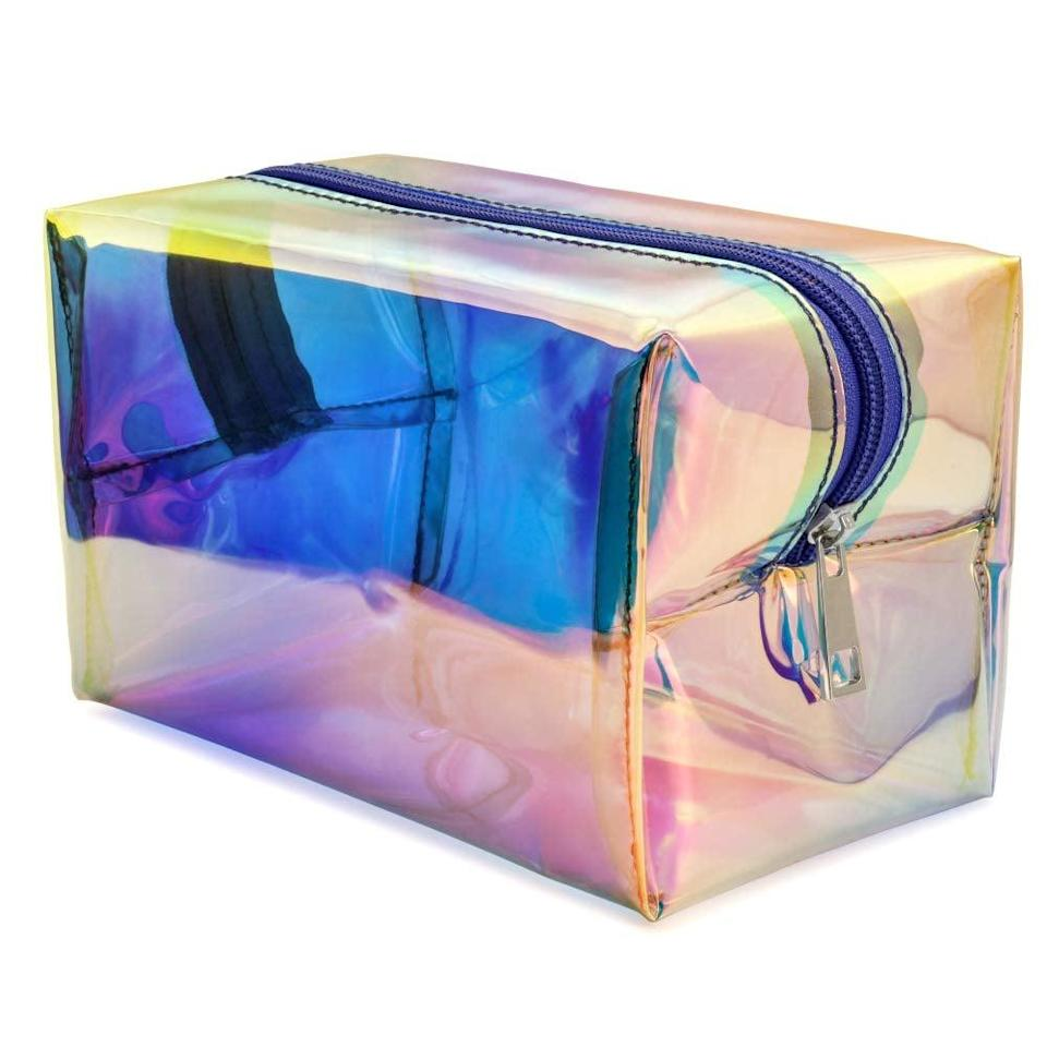 <p>They can throw all of their odds and ends in this <span>Holographic Makeup Bag</span> ($11) that's sure to get compliments wherever they go.</p>
