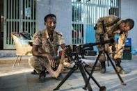 """Security is being maintained by Amhara's uniformed """"special forces"""" throughout west Tigray"""