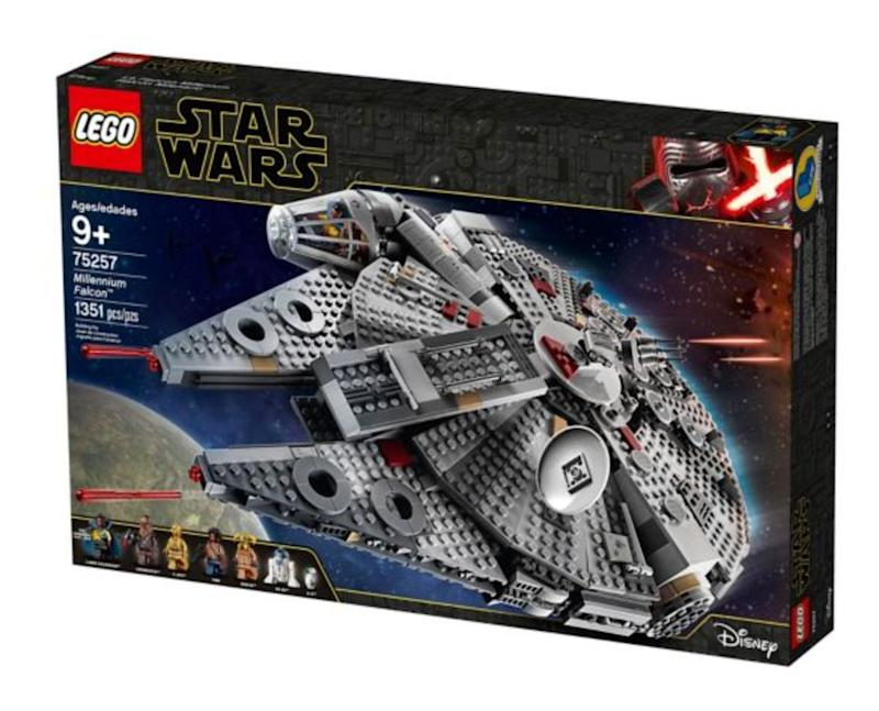 "Millennium Falcon model has loads of details to impress fans of any age.&nbsp;<strong>Ages:</strong> 9+&nbsp;<strong>Get it at:</strong> <a href=""https://www.canadiantire.ca/en/pdp/lego-star-wars-millennium-falcon-75257-0506828p.html"" target=""_blank"" rel=""noopener noreferrer"">Canadian Tire</a>, $179.99"