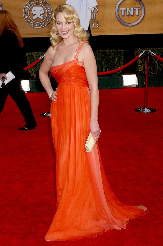 """<a href=""""/katherine-heigl/contributor/28400"""">Katherine Heigl</a> at the <a href=""""/the-2007-screen-actors-guild-awards/show/40550"""">13th Annual Screen Actors Guild Awards</a>."""