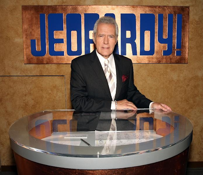 "Alex Trebek, the long-time host of popular US game show ""Jeopardy!"" (AFP Photo/Frederick M. Brown)"