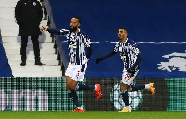 Kyle Bartley hauled West Brom level shortly after the interval
