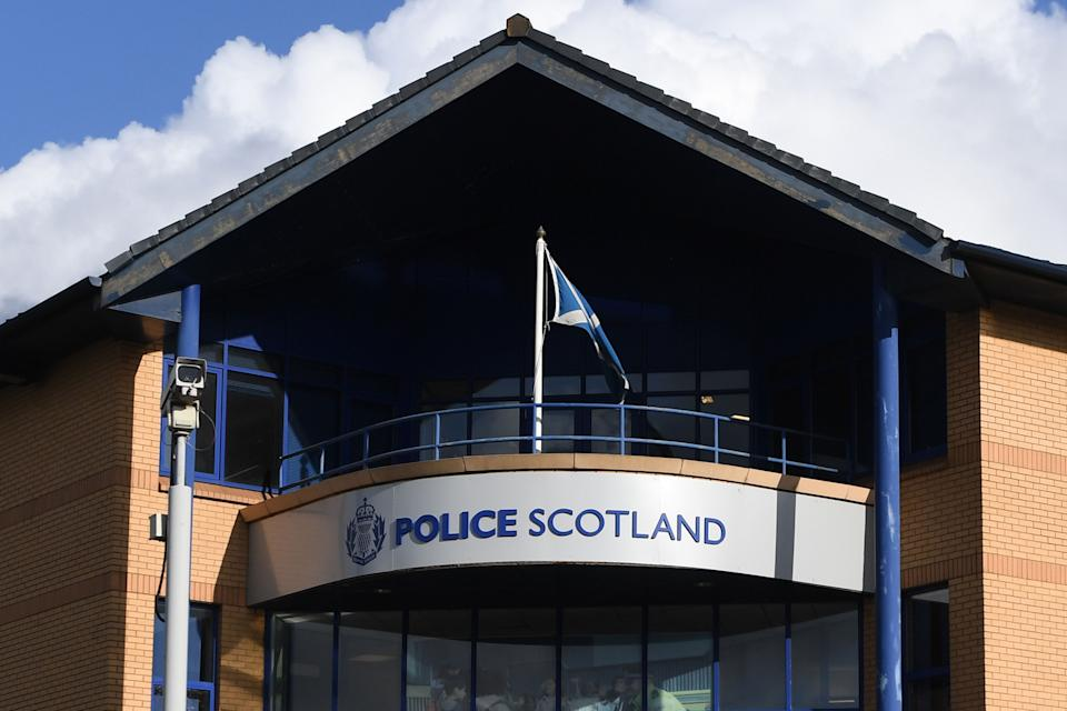 """A general view shows the front of Govan Police Station on Helen Street in Glasgow on October 12, 2019. - A French man arrested in Scotland is not the murder suspect wanted for killing his wife and four children eight years ago, a source close to the investigation said October 12. French judicial sources had said October 11 that police at Glasgow airport had arrested Xavier Dupont de Ligonnes, who was subject to an international arrest warrant for the 2011 killings which transfixed France. But on October 12, sources close to the probe said a DNA test on the man being held in Scotland was """"negative"""". (Photo by ANDY BUCHANAN / AFP) (Photo by ANDY BUCHANAN/AFP via Getty Images)"""