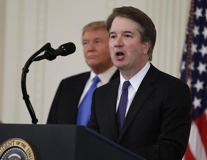 Republicans are attempting to push a vote on Supreme Court nominee Brett Kavanaugh before Democrats can review his bevy of writings from his tenure as George W Bush's staff secretary: AP
