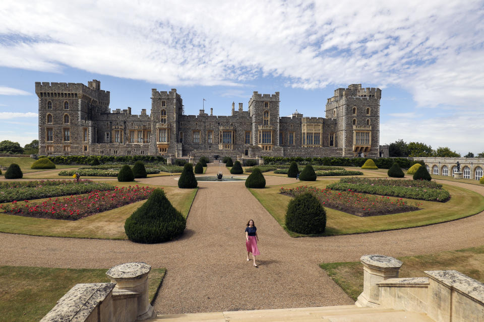 Windsor Castle's East Terrace Garden which will be open to the public for the first time in decades from Saturday. (Photo by Steve Parsons/PA Images via Getty Images)