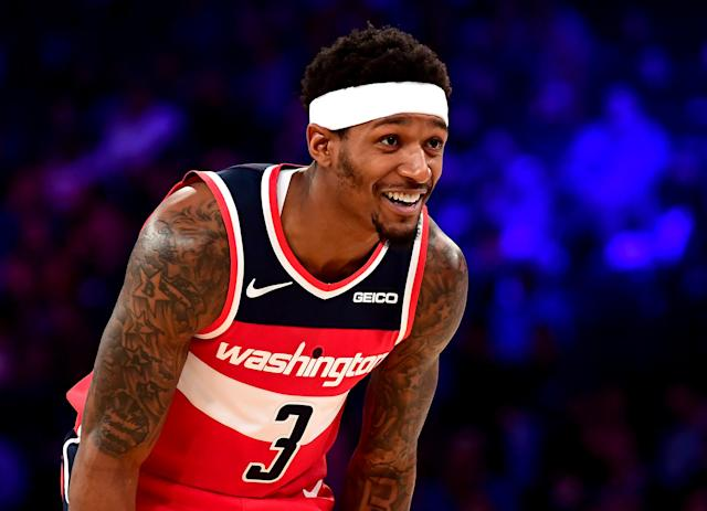 Bradley Beal has committed to the Washington Wizards for another two years. (Photo by Emilee Chinn/Getty Images)