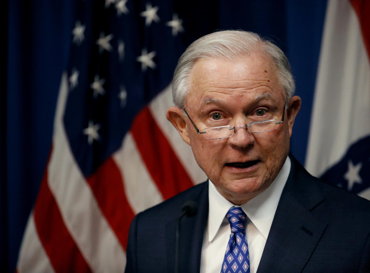 Attorney General Jeff Sessions. (Photo: Charlie Riedel/AP)