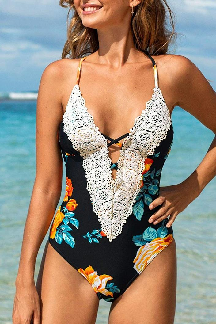 """<p>These trend-driven suits come at a cheap and cheery price that can't be beat. With most pieces under $35 (even for the two-piece sets), you can test drive styles such as wrap tops or daring cut-outs without feeling guilty. Oh, did we mention they're available on Amazon?</p><p><a class=""""link rapid-noclick-resp"""" href=""""https://www.amazon.com/stores/page/64869647-6F1B-45A1-8DA0-719FCD5E0192?ingress=0&visitId=dcd86c17-e0aa-4557-a1b6-513863f7c049&productGridPageIndex=3&tag=syn-yahoo-20&ascsubtag=%5Bartid%7C10072.g.27391962%5Bsrc%7Cyahoo-us"""" rel=""""nofollow noopener"""" target=""""_blank"""" data-ylk=""""slk:SHOP NOW"""">SHOP NOW</a></p>"""