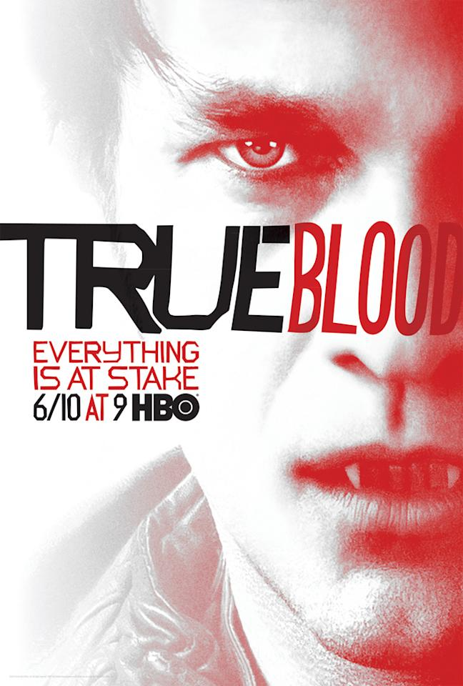 """True Blood"" Season 5 poster featuring Bill Compton (Stephen Moyer)"