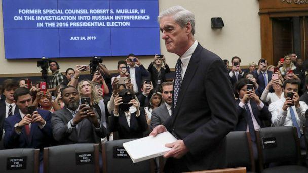 PHOTO: Former Special Counsel Robert Mueller arrives to testify before a House Intelligence Committee hearing on the Office of Special Counsel's investigation election interference by Russia, in Washington, D.C., July 24, 2019. (Leah Millis/Reuters)