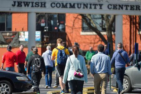 Members are allowed to return following a  a bomb threat at the Jewish Community Center in Louisville, Kentucky, U.S., March 8, 2017.  REUTERS / Bryan Woolston