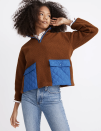 """<p><strong>Madewell</strong></p><p>madewell.com</p><p><strong>$128.00</strong></p><p><a href=""""https://go.redirectingat.com?id=74968X1596630&url=https%3A%2F%2Fwww.madewell.com%2F%2528re%2529sourced-fleece-quilted-pocket-popover-jacket-MC240.html&sref=https%3A%2F%2Fwww.seventeen.com%2Ffashion%2Fg34644503%2Fmadewell-black-friday-sales-2020%2F"""" rel=""""nofollow noopener"""" target=""""_blank"""" data-ylk=""""slk:Shop Now"""" class=""""link rapid-noclick-resp"""">Shop Now</a></p><p>The unexpected chocolate/cobalt combo feels so much cooler than your typical plain black fleece.</p>"""