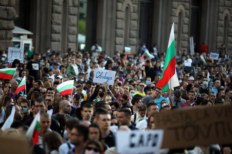 Bulgarian anti-graft protests want Borissov's government out