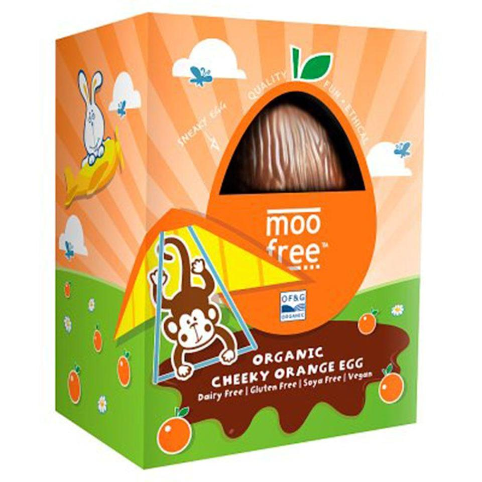 """<p>This organic egg will appeal to your inner child. The orange flavour gives a tasty bitter twist to the chocolate, which is made in the UK from coca butter and rice powder. </p><p>Moo Free cheeky orange egg, £4, Waitrose</p><p><a class=""""link rapid-noclick-resp"""" href=""""https://go.redirectingat.com?id=127X1599956&url=https%3A%2F%2Fwww.waitrose.com%2Fecom%2Fproducts%2Fmoo-free-cheeky-orange-egg%2F799366-408878-408879&sref=https%3A%2F%2Fwww.cosmopolitan.com%2Fuk%2Fworklife%2Fg15871251%2Fvegan-easter-eggs%2F"""" rel=""""nofollow noopener"""" target=""""_blank"""" data-ylk=""""slk:BUY NOW"""">BUY NOW</a></p>"""