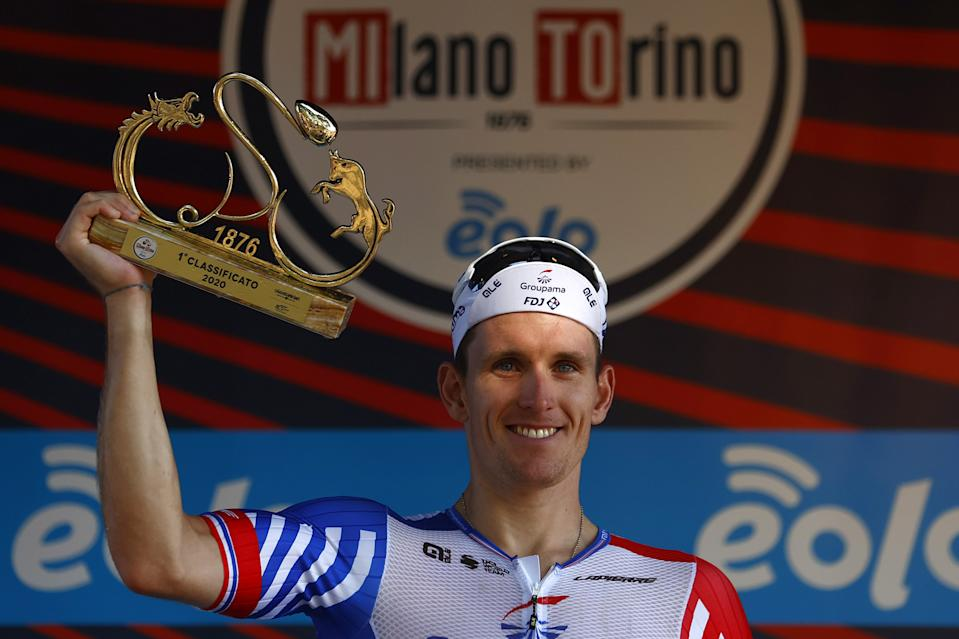 Arnaud Demare with trophy