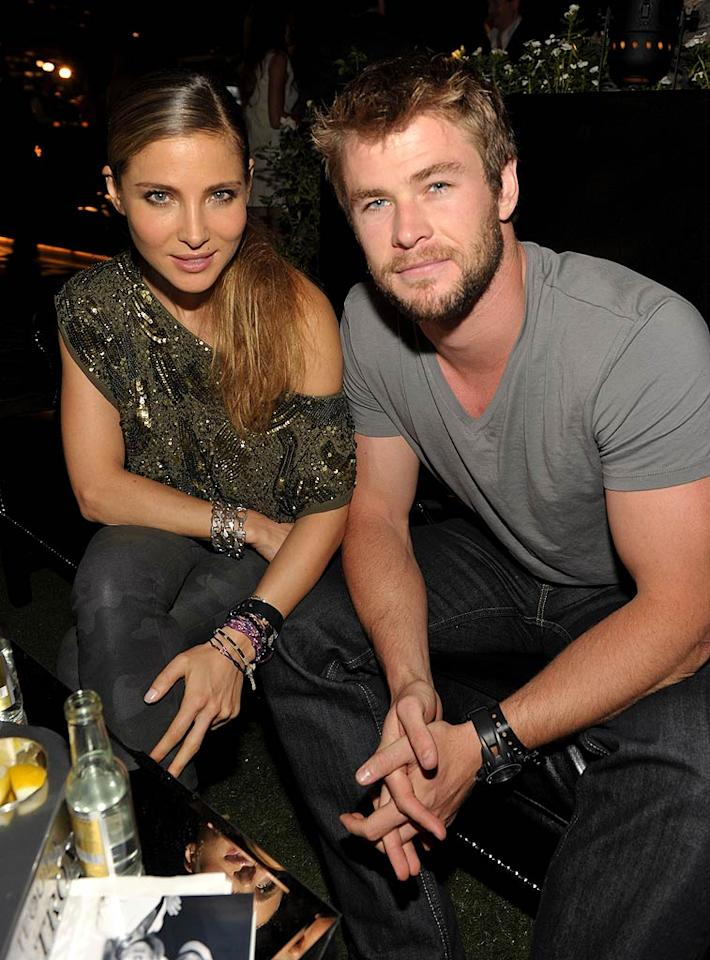 "Liam Hemsworth's older brother Chris, who will star in next spring's ""Thor,"" hung out with his rumored girlfriend, Spanish actress Elsa Pataky. John Shearer/<a href=""http://www.wireimage.com"" target=""new"">WireImage.com</a> - September 29, 2010"