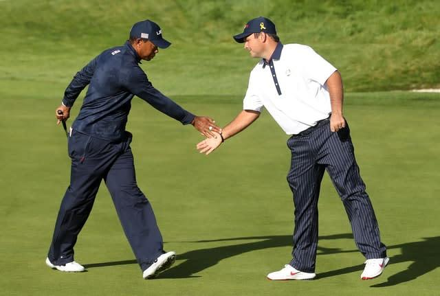 Patrick Reed (right) and Tiger Woods lost both matches together in Paris (Adam Davy/PA)