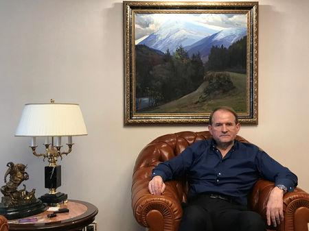 Ukraine's politician Viktor Medvedchuk poses for a picture during an interview with Reuters in Kiev