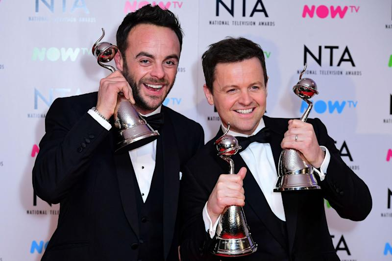 NTAs: Ant and Dec have been named on the longlist: PA