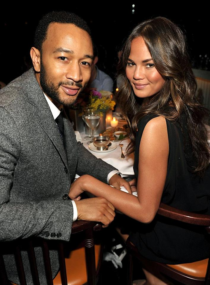 """John Legend and his model girlfriend Christine Teigen were also in attendance at the private dinner party. John Shearer/<a href=""""http://www.wireimage.com"""" target=""""new"""">WireImage.com</a> - February 27, 2010"""