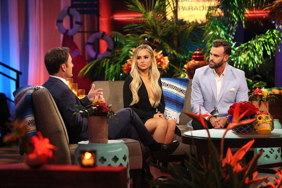 """<p>After calling off her engagement to Josh, Amanda returned to <em>BiP </em>for season 4, where she met Robby Hayes. While they didn't leave the island engaged, they continued to date after filming wrapped—that is, until <a href=""""https://www.usmagazine.com/celebrity-news/news/amanda-stanton-i-have-more-evidence-robby-hayes-cheated-w502723/"""" rel=""""nofollow noopener"""" target=""""_blank"""" data-ylk=""""slk:Amanda accused him of cheating"""" class=""""link rapid-noclick-resp"""">Amanda accused him of cheating</a>. Yikes. </p>"""