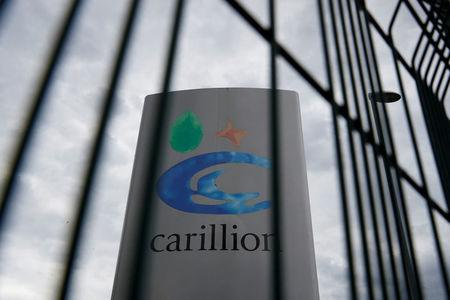 FILE PHOTO: A Carillion sign in Manchester, Britain July 13, 2017.  REUTERS/Phil Noble/File Photo