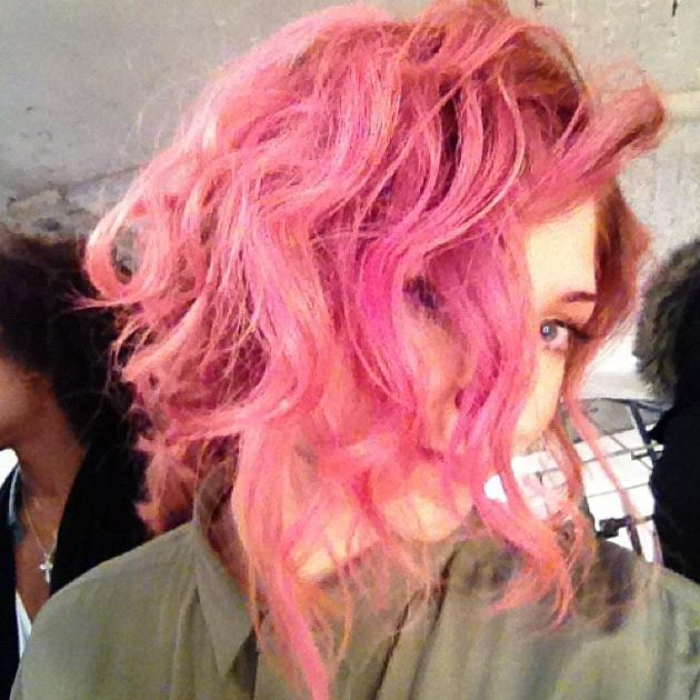 Celebrity photos: Nicola Roberts has become the latest celebrity to experiment with hair dye, deciding to turn her hair bright pink. Being the fashionista she is, we reckon Nicola can pull it off.