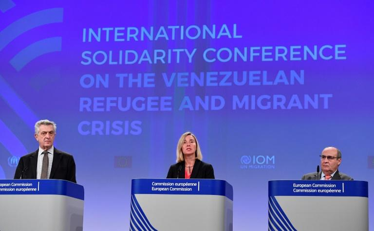 The EU's foreign policy chief Federica Mogherini hailed the conference, jointly organised with the heads of the UN agencies UNHCR and OIM