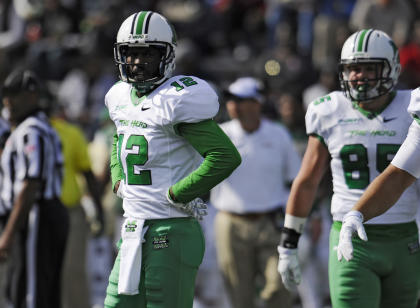 Rakeem Cato and the Thundering Herd take a high-powered offense to Boca Raton, Fla. (USAT)