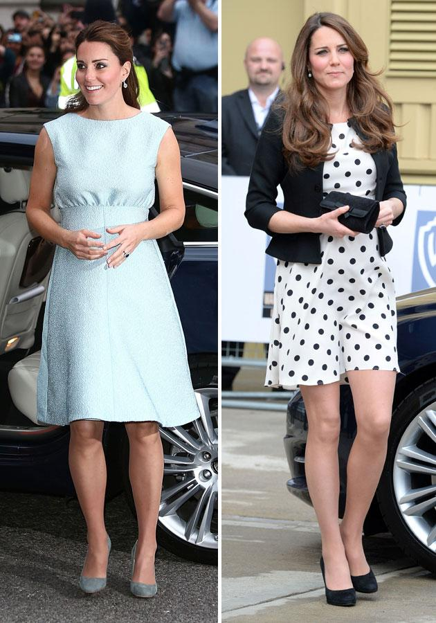 """<b>Kate Middleton </b><br><br>The <a target=""""_blank"""" href=""""http://uk.lifestyle.yahoo.com/photos/kate-middleton-1354097557-slideshow/"""">Duchess of Cambridge</a> wowed in a <span>pastel</span> Emilia Wickstead frock at the <span>National Portrait Gallery</span> and a <a target=""""_blank"""" href=""""http://uk.lifestyle.yahoo.com/photos/celebrities-in-high-street-britney-spears-taylor-swift-and-lana-del-rey-wear-high-street-fashion-slideshow/"""">high-street</a> Topshop dress to the <span>Warner Bros. Studio Tour</span>.<br><br>[Getty/Rex]"""