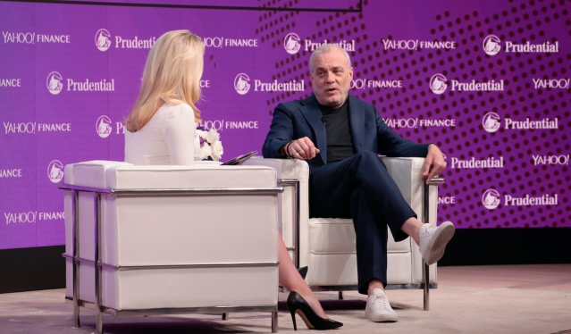 Yahoo Finance's Julia La Roche interviews Aetna chairman and CEO Mark Bertolini at Yahoo Finance's All Markets Summit. (Getty Images/ Cindy Ord)