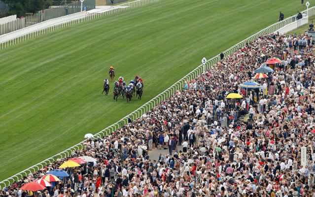 Horse Racing - Royal Ascot - Ascot Racecourse, Ascot, Britain - June 22, 2017 General view during the 2.30 Norfolk Stakes Action Images via Reuters/Matthew Childs