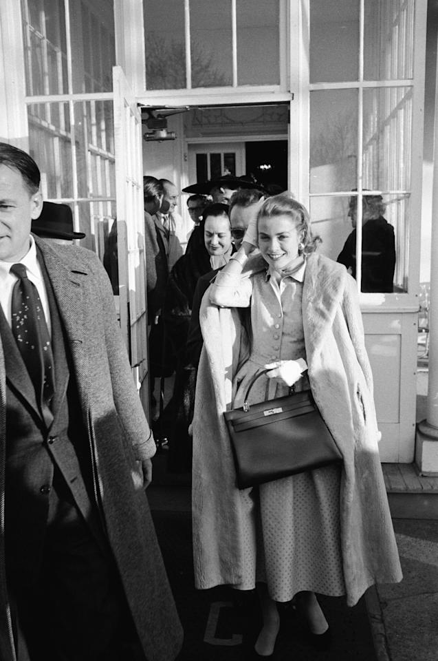Long before Meghan Markle was even born, America had another actress-turned-royal: Grace Kelly. Already known for her chic style, Kelly carried her signature Hermès bag to announce her engagement to Monaco's Prince Rainier. Eventually, the design became known as the Kelly bag.