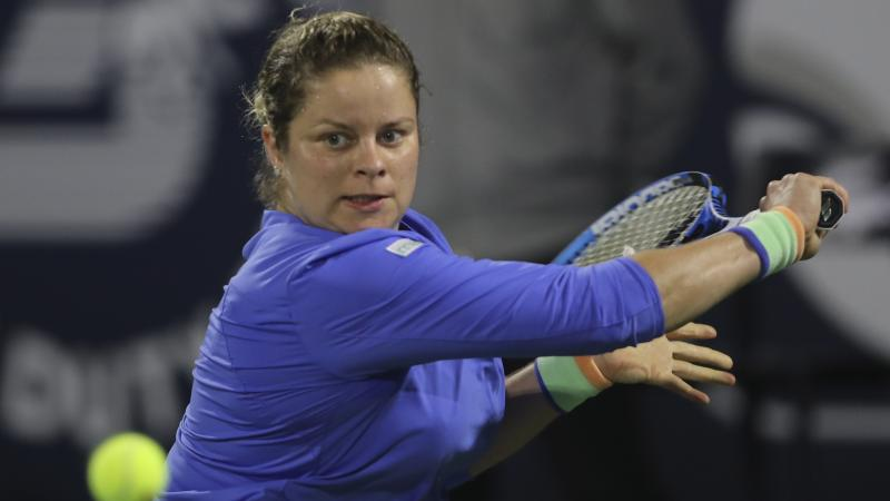 Clijsters' return to tennis ends in straight-sets defeat to Muguruza