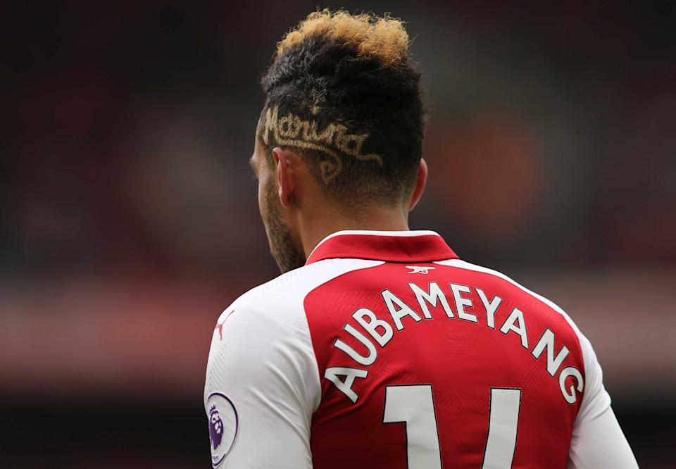Pierre-Emerick Aubameyang's could have had his first Arsenal hat-trick against Stoke but the striker gave Arsenal's second penalty to strike partner Alexandre Lacazette.