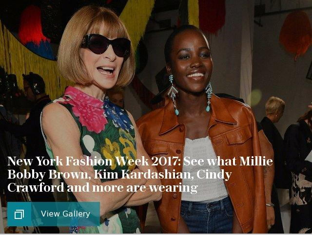 New York Fashion Week 2017: See what Millie Bobby Brown, Kim Kardashian, Cindy Crawford and more are wearing