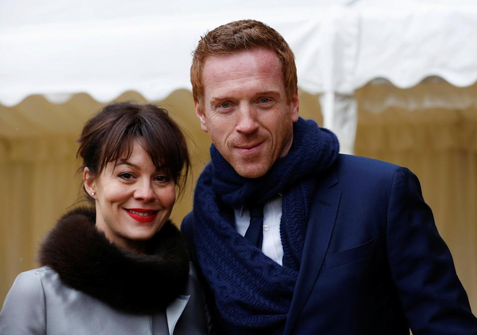 <p>Damian Lewis with his wife Helen McCrory</p> (Reuters)